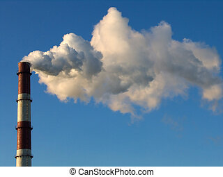 smoke stack 1 - smoke stack on a blue sky background