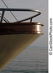 bow of boat with railing