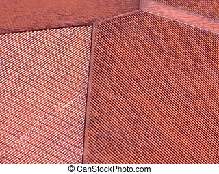 Roof pattern - Picture of roofing tile from above