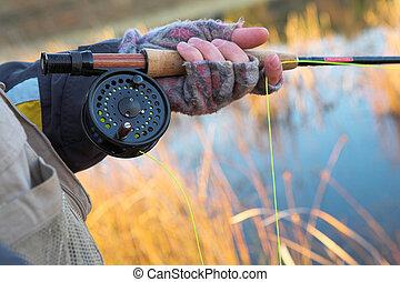 Flyfishing 20 - A fly fishermans spinner - Focus on spinner...