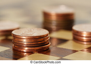 Financial planning using a chess board