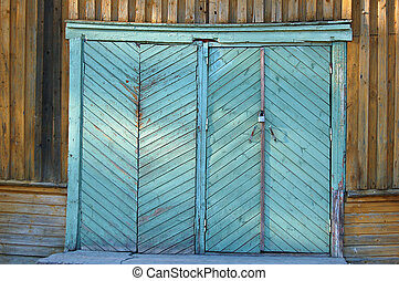 Herringbone doors - Doors on a Russian barn