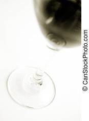 Stock Photo of a Glass of Red Wine on White Background -...