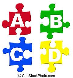 ABCD jigsaws