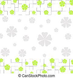 Floral border - Green floral border