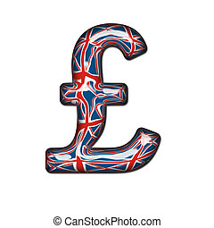 Glass British Pound Sterling Symbol complete with clipping...