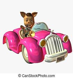 Pig Mobil - 3D Toon Render
