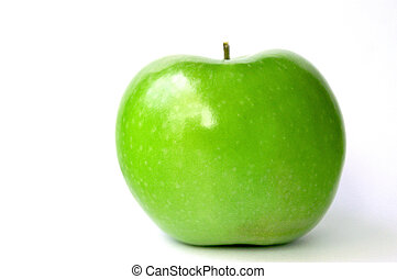 Pure Green Apple - Pure green shiny apple on whie background...