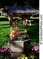 Harvest Wishing Well - Decorative Harvest Wishing Well