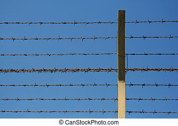 barbed wires close to each other