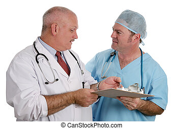 Medical Resident Instructs Intern