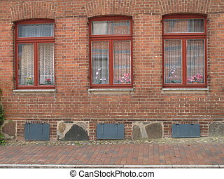 three red windows