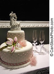 Wedding Cake - Wedding cake display.