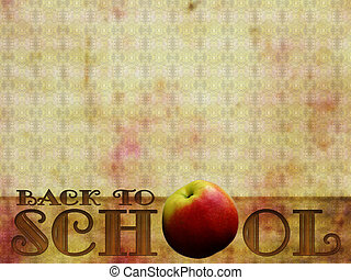 Back to School background, retro style