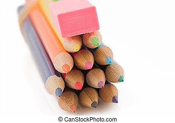 Pencils and eraser