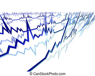 EKG Lines - 3D Illustration.