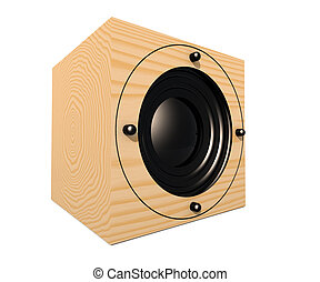 Cubic Speaker 2 - 3D rendered Illustration of an cubic...