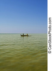 pirogue on water in Penthievre