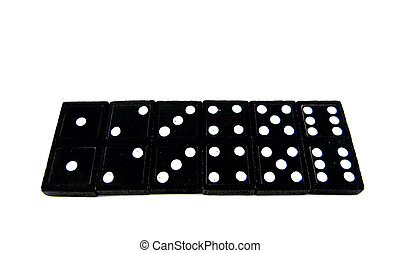 Domino tiles 1, 2, 3, 4, 5, 6 - Double numbered domino tiles...