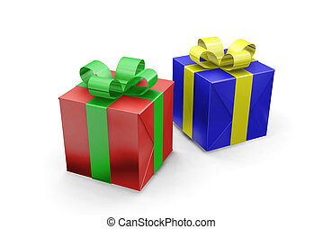Presents - 3D render of wrapped gifts