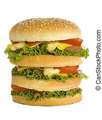 huge hamburger - front view