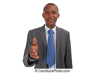 You got the JOB! - This is an image of a businessman,...