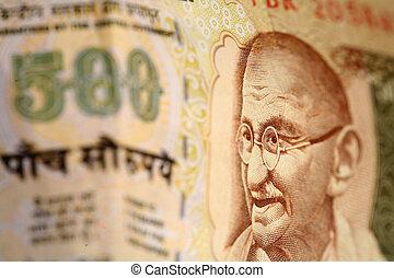 indianin, Pieniądze