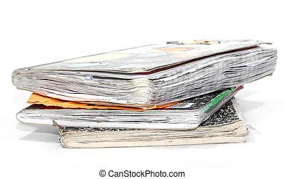 viejo, cuadernos