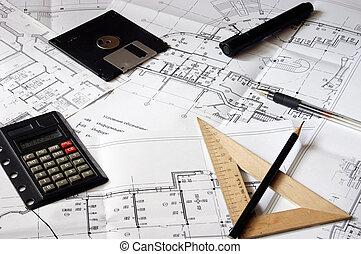cianografie, costruzione