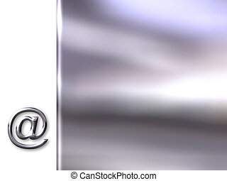 mail symbol - Background with e-mail symbol in silver bevel