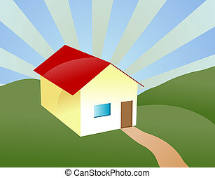 Home sweet home - Illustration of a house