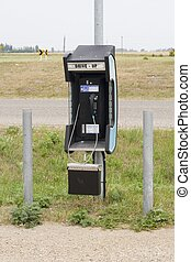Drive-up Telephone - An old fashioned drive-up pay phone