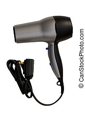 Hair Dryer - Silver Hair Dryer, isolated, path included