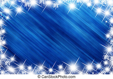 holiday stars - blue background with stars