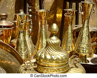 Copper chalices - A lot of objects of filigree work