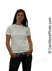 t shirt teen - cute teen in a blank white t shirt for you to...