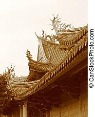 """Pagoda\\\""""s roofPagoda - Detail of a pagoda\\\'s roof"""