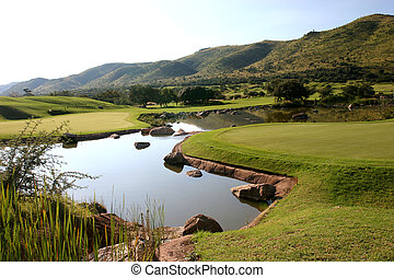 Golf Course - Pond at golf course