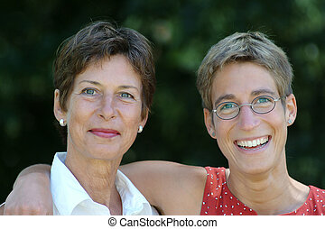 Family - Mother and daughter are smiling