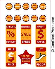 shopping, objetos, -, (check, saída, meu, portfolio,...