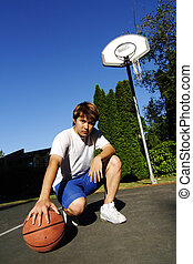 Basketball player - A young basketball player