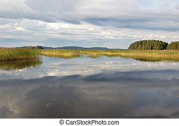 Gray lake - Finnish lake