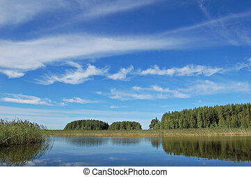 Finnish lake - Typical Finnish lake scene