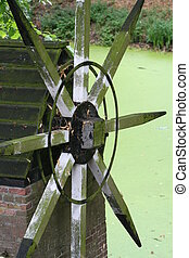 Water Mill - Deatail of monumental Water Mill