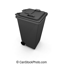 Wheelie bin - 3D render of a wheelie bin