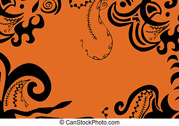 swirls border - digital illustration of swirls and scrolls...