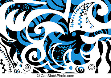 swirls organic design - digital illustration of swirls and...