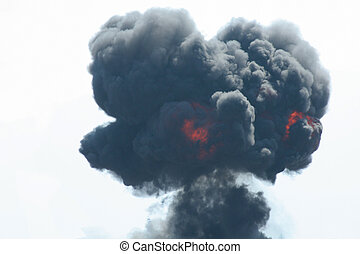 black smoke from explosion