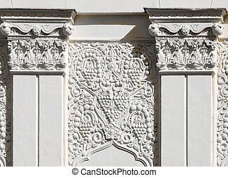 Architectural fragment in east style-stucco moulding