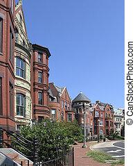 DC rowhouses tall2 - one of several shots of dcs historic...